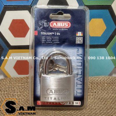Khóa bấm Titalium Abus 64Ti/50 size 50mm