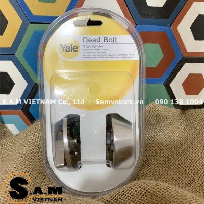 Khóa cóc chốt chìa Yale V8111 US32D inox mờ