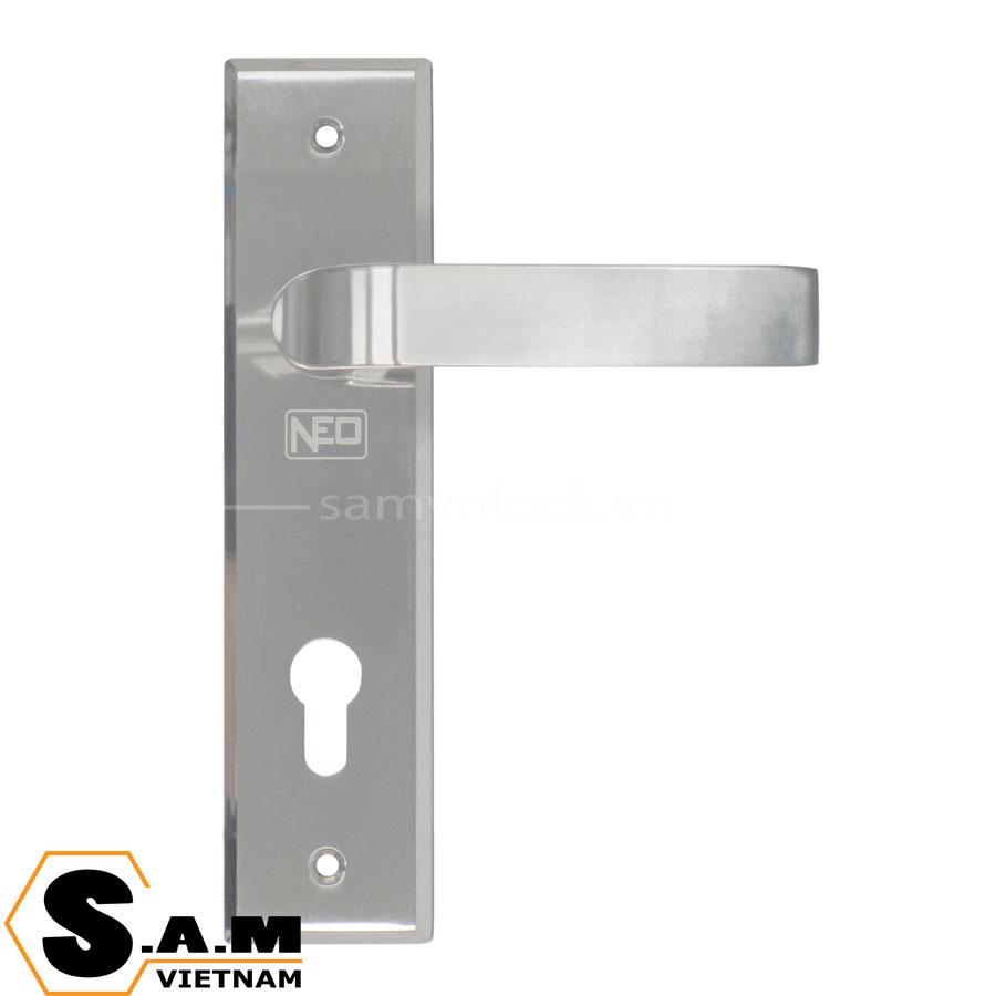 Khóa tay gạt NEWNEO R82136/1C cửa phòng, thân trung 200mm