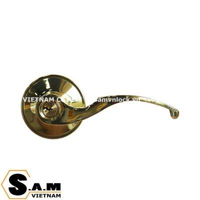 Khóa tròn gạt có chìa Yale VL6557 US3 màu Đồng bóng