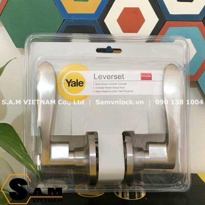 Khóa tròn gạt Yale VL8322 US15 Niken mờ cho cửa WC