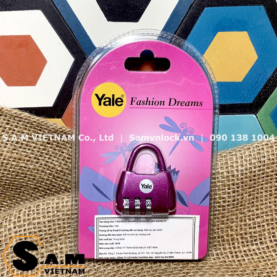 Khóa du lịch Yale Y-NOVELTY-2 màu tím
