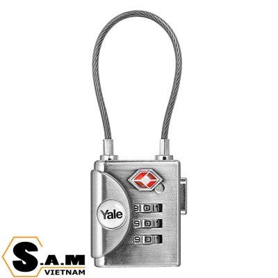 Khóa vali TSA dây thép Yale YTP3/32/350/1