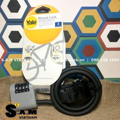 Khóa số dây cáp YALE YCCL2/10/80/1 chiều dài dây thép 0,8m