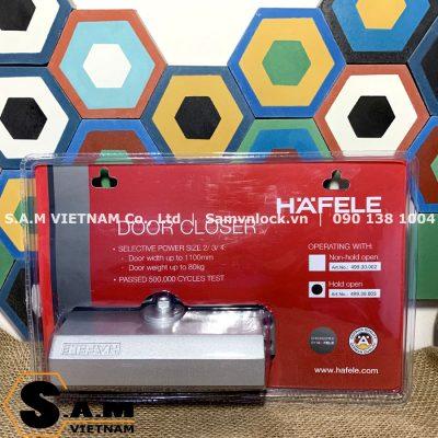 Tay đẩy hơi có dừng Hafele 499.30.003 cửa nặng 45-80kg
