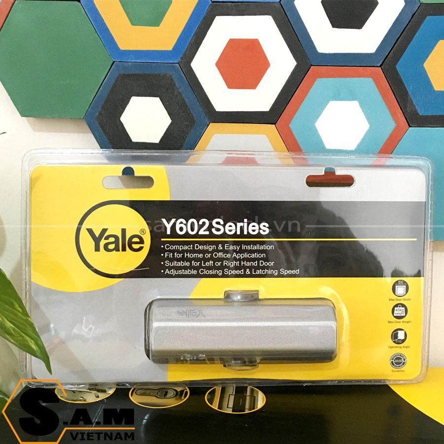 Tay đẩy hơi Yale Y602 không dừng, cửa nặng 45kg