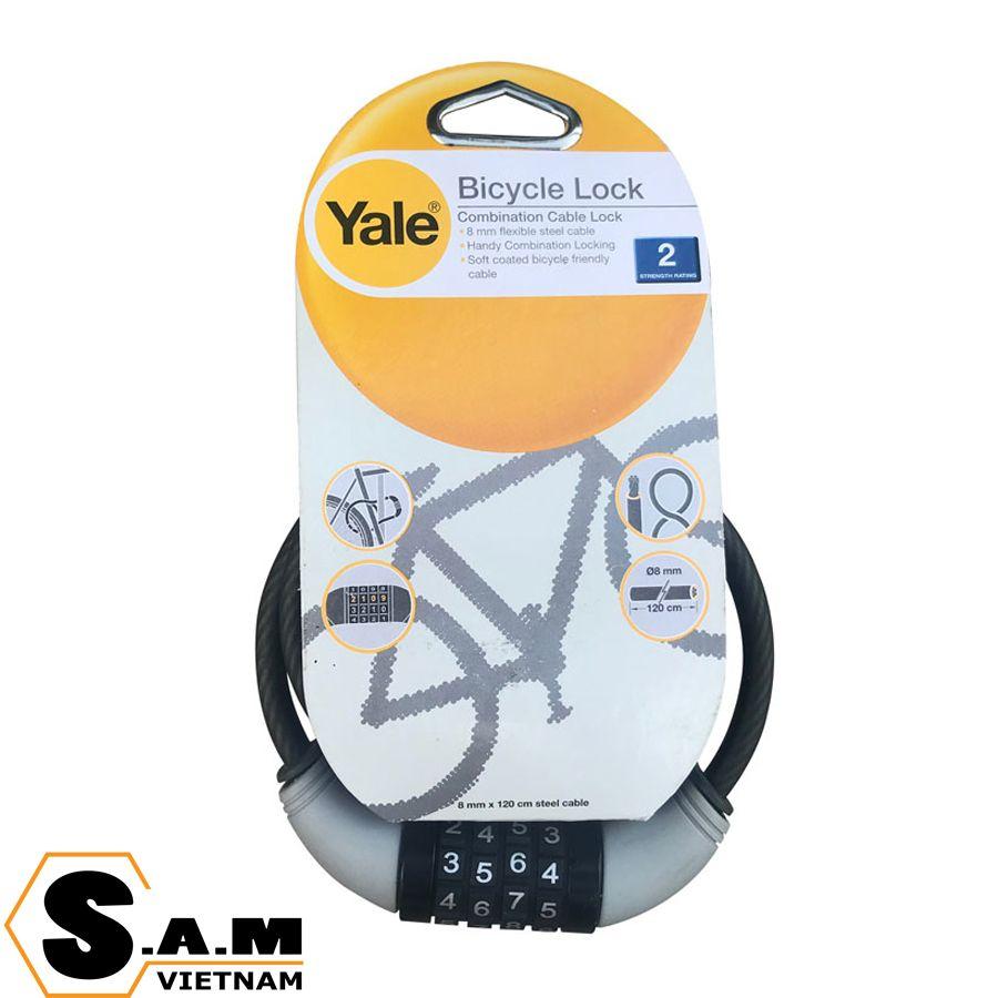 YALE YCCL1/8/120/1 Khóa dây thép xe đạp
