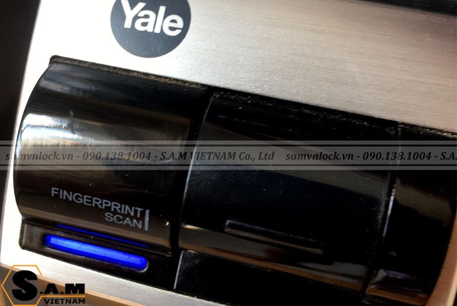 Khóa vân tay YALE YDM 4109+ BLACK sử dụng công nghệ quét vân tay sinh trắc học đảm bảo an toàn tuyệt đối