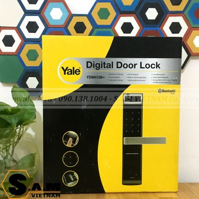 Hộp sản phẩm Khóa vân tay YALE YDM 4109+ BLACK mặt trước