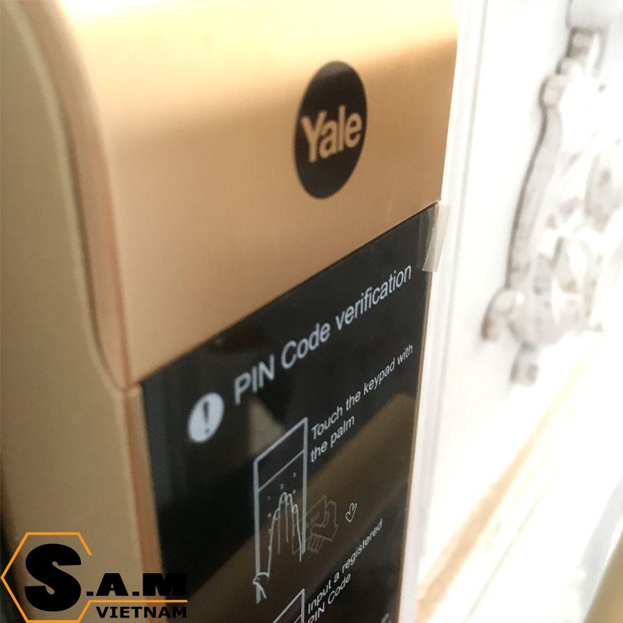 Yale YDM 3109 plus Gold hoàn thiện bằng kim loại chắc chắn