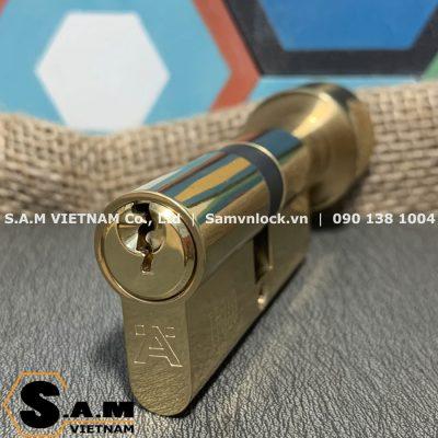 Ruột khóa chốt chìa Hafele 916.96.664 71mm đồng bóng