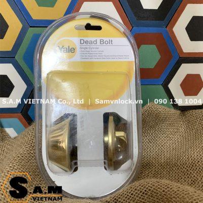 Khóa cóc chốt chìa Yale V8111 US3 màu vàng