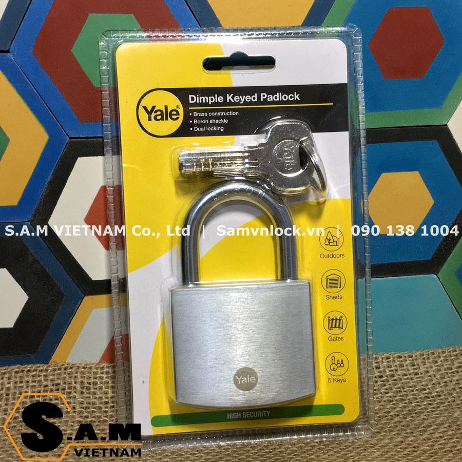 Khóa bấm Yale Y120DB/50 size 50mm chìa vi tính
