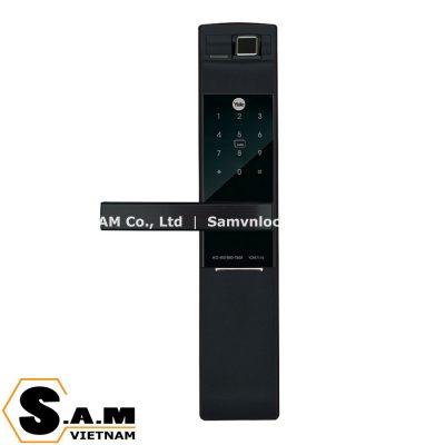 Khóa điện tử vân tay thẻ từ Yale YDM7116A MB màu đen mờ