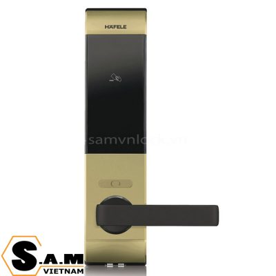 Khóa điện tử Bluetooth Hafele DL7900 thân nhỏ, vàng 912.05.649
