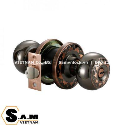 Khóa nắm tròn 60mm Vickini 30850.001 BN/AC màu đen nâu