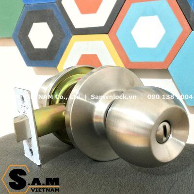 Khóa nắm tròn Zani ZI9500SS cò ngắn 60mm cho cửa vệ sinh