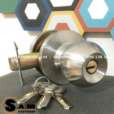 Khóa nắm tròn Zani ZI9500SS cò ngắn 60mm cho cửa phòng
