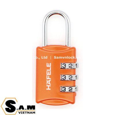 Ổ khóa số vali Hafele 482.09.002 màu cam