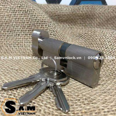 Ruột khóa vặn chìa Yale 10-0503-3030-CK-22-01 dài 60mm màu niken mờ
