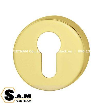 Nắp che ruột khóa tròn Hafele 900.52.775 Đồng bóng